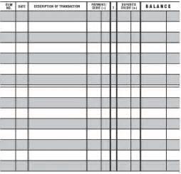 Free Checkbook Register Template Printable Check Register Excel Galleryhip Com The