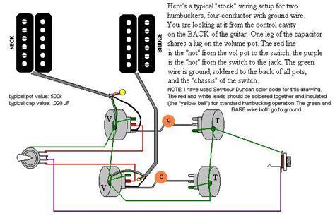 single conductor humbucker schematic the guitar