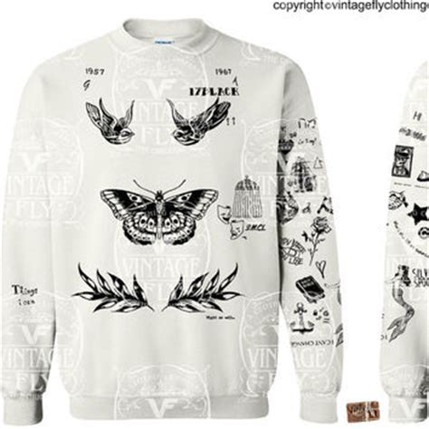 harry styles tattoo shirt shop harry styles sweatshirt on wanelo