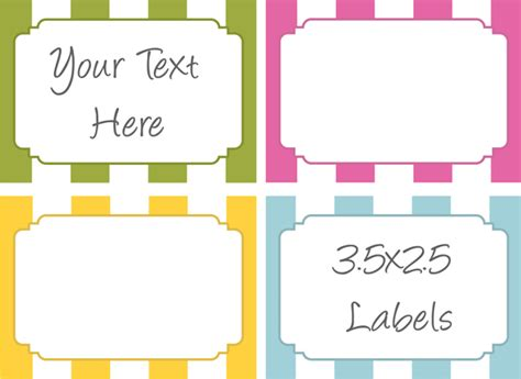6 best images of design free printable label template word
