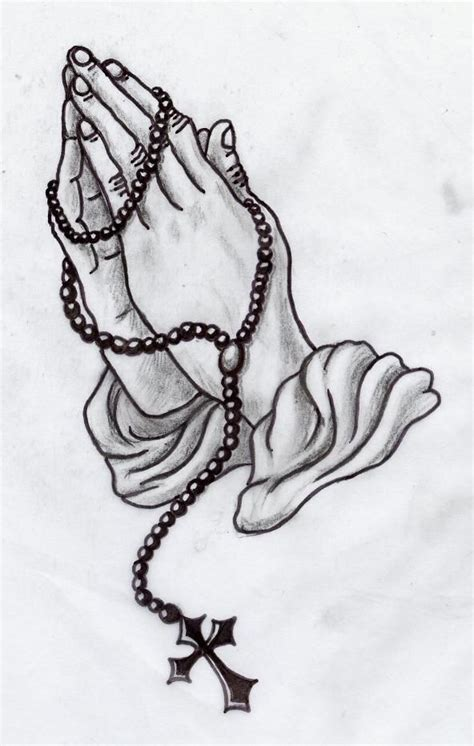 praying hands with rosary beads tattoo designs image result for praying with rosary ideas