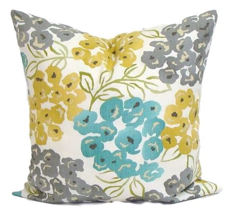 grey yellow pillows teal yellow pillow cover gray pillow pillow floral pillow