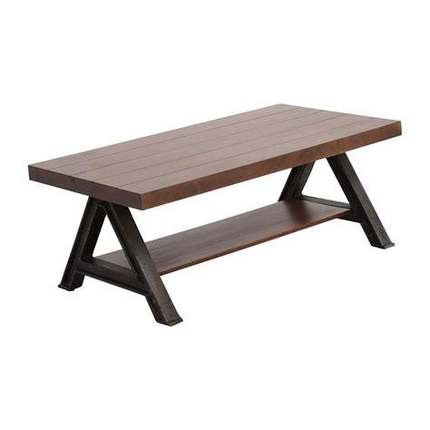 elm coffee table 60 elm elm wood and metal coffee table