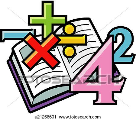 clipart matematica clipart of calculation arithmetic math numeral book