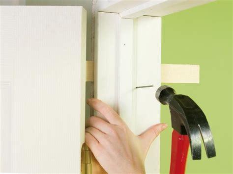 How To Install A Door Frame Interior How To Install Interior Pre Hung Doors How Tos Diy