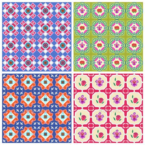 pattern tiles singapore peranakan patterns bright by proofperfect graphicriver