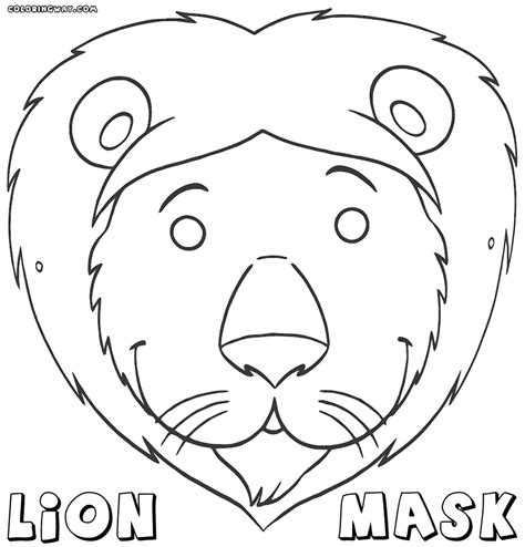 print out share this printable lion coloring pages online lion mask templates printable foto bugil bokep 2017