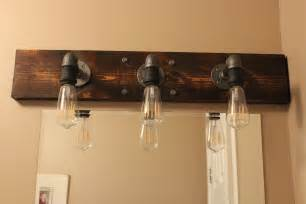 Above Mirror Vanity Lighting Diy Industrial Bathroom Light Fixtures