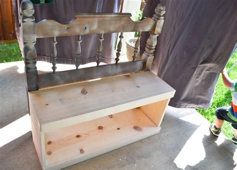 diy bench from headboard from headboard to bench diy pinterest benches and
