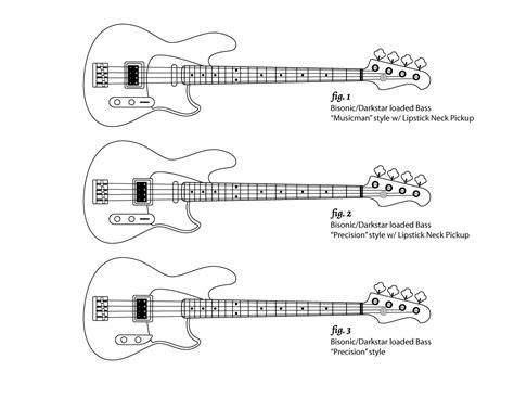 drawings of my quot original quot fender derivative bass design