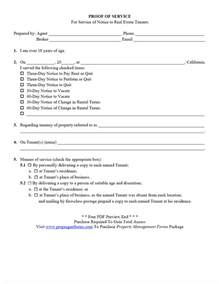 Proof Of Service Letter Exle Property Management Forms