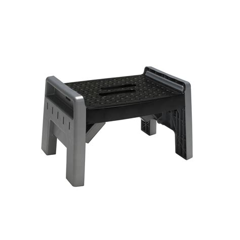 Plastic Step Stools At Lowes by Shop Cosco 1 Step Plastic Step Stool At Lowes
