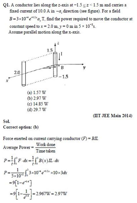 electromagnetic induction test questions electromagnetic induction jee important questions preparation tips
