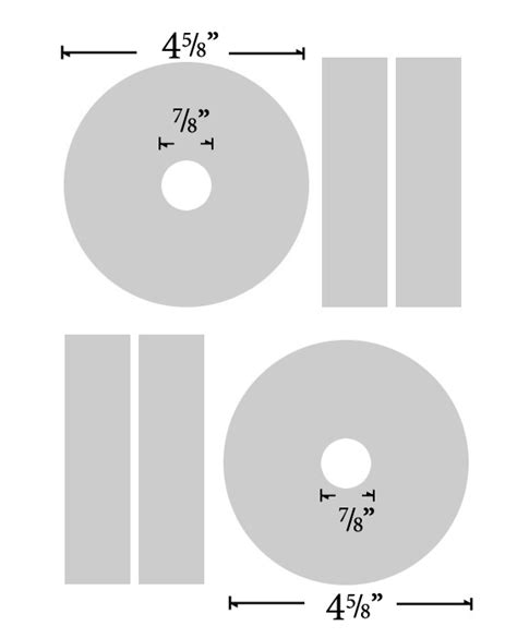 100 cd stomper 2 up standard with center labels template