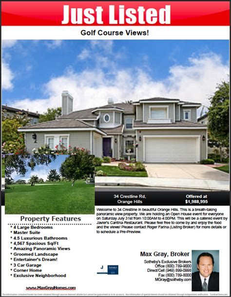 real estate listing flyer template free how to make a pdf real estate flyer step by step