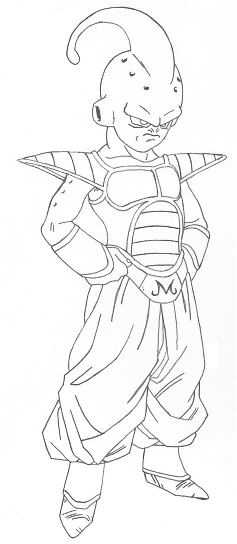 majin buu coloring coloring pages