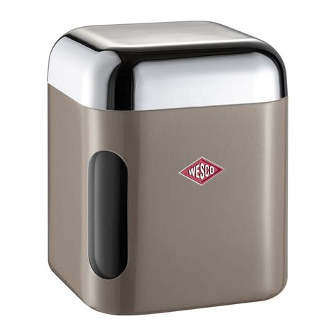 square kitchen canisters buy wesco square canister with window warm grey amara