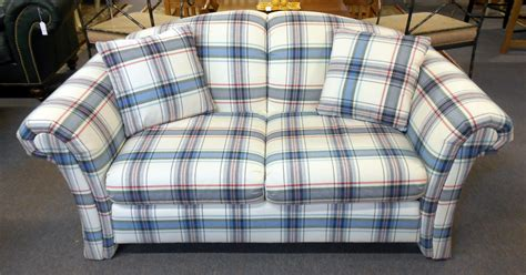 plaid sofa and loveseat plaid couches 28 images plaid camelback sofa homestead