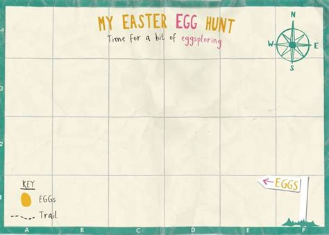 easter egg hunt map template here s 11 clever tricks to plan the easter egg