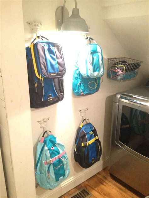 backpack storage ideas 17 best ideas about kids backpack storage on pinterest