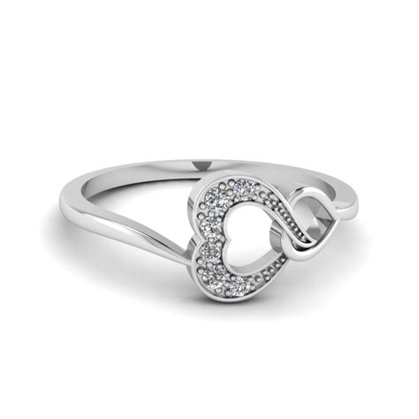pave white promise ring in sterling