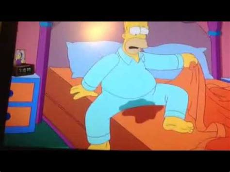 homer in bed homer wets the bed youtube
