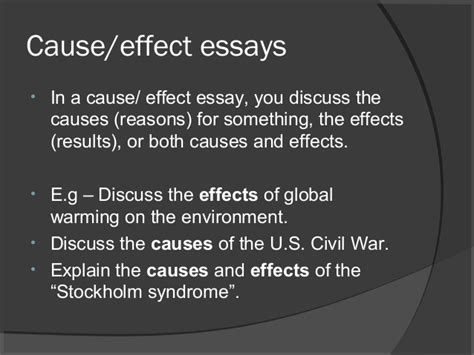 Cause And Effect Of Civil War Essay by Cause And Effect Essay