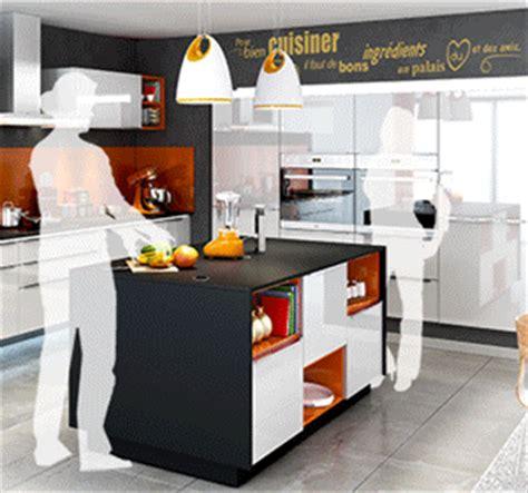 cuisine ouverte avec verri鑽e cuisine avec ilot central everest cuisines you