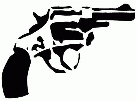 handgun stencil stencils silhouette stencil stencil art