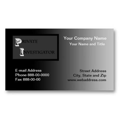Investigator Business Card Templates by 20 Best Investigator Business Cards Images On