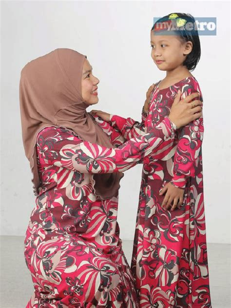 Dress Baju Harian jubah sedondon ibu anak harian metro