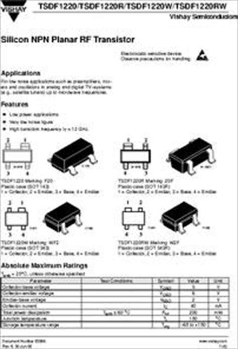 tsdfrw datasheet  ghz silicon npn planar rf transistor