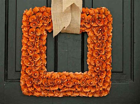 how to make a wreath for front door finest fall wreath for front door how to make a fall