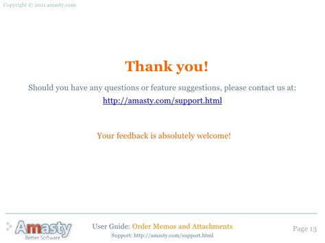thank you for contacting us email template order memos and attachments magento extension by amasty