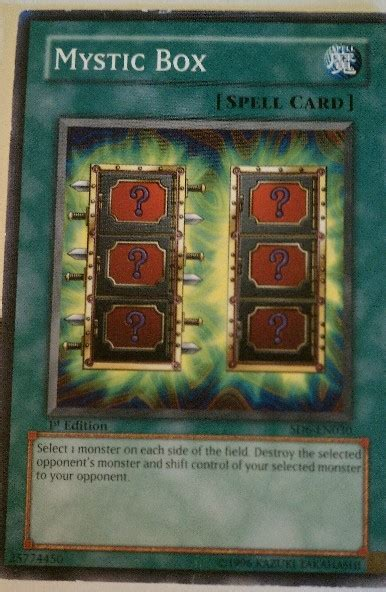 Yugioh Card Template Spell by Free Mystic Box Yugioh Spell Card Trading Cards