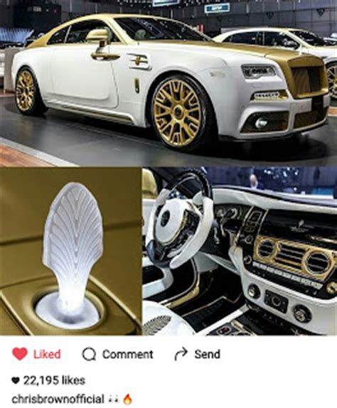 rolls royce white and gold chris brown to acquire gold white painted rolls royce