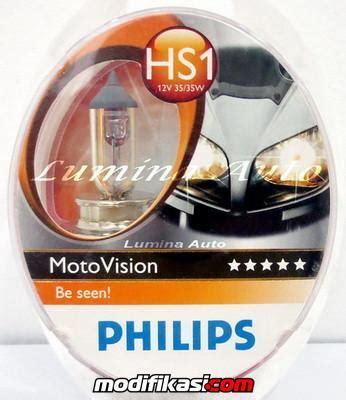Bohlam Philips M5 35 Watt 100 Original baru lu motor philips bluevision crystalvision cityvision motovision m5 hs1 h7 h4