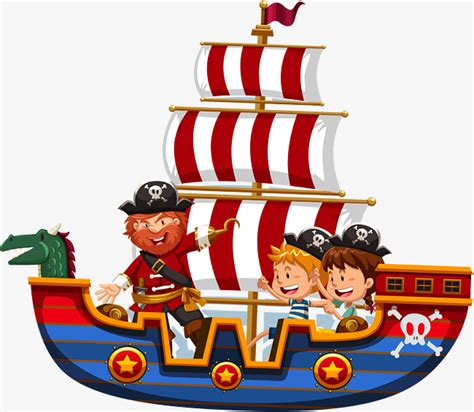 barco pirata vector vector hand painted pirate ship hand vector pirate