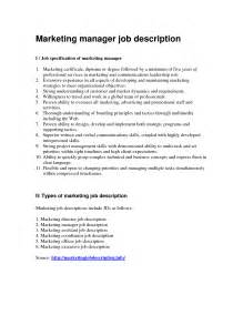 Marketing Project Manager Description by Doc 12751650 Marketing Project Manager Description Description Project Manager