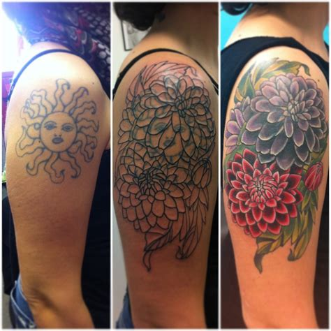 flower cover up tattoos vintage flowers cover up betzy eaton tattoos