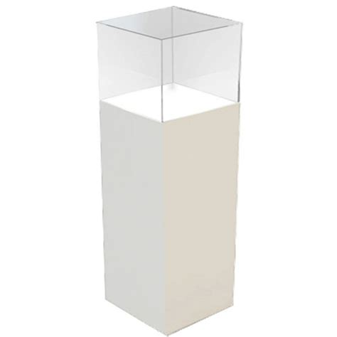 Display Pedestal White Acrylic Pedestal Add Display Top Rentquest