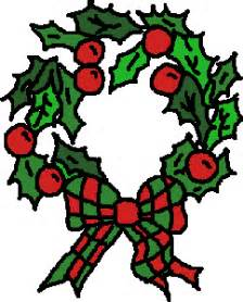 christmas wreath clip art christmas wreath graphic 1