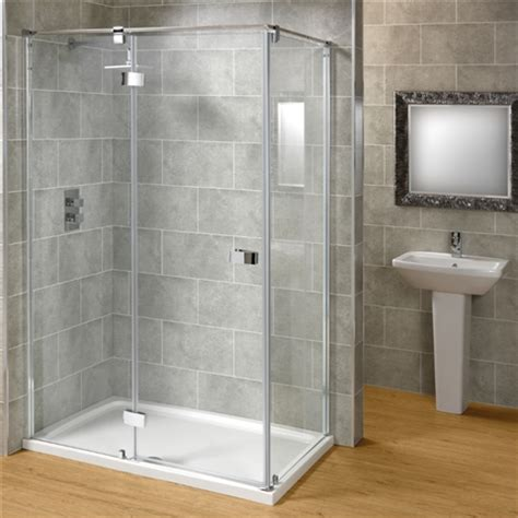Large Shower Units Saneux Carbon Hinged Shower Enclosure Hugo Oliver