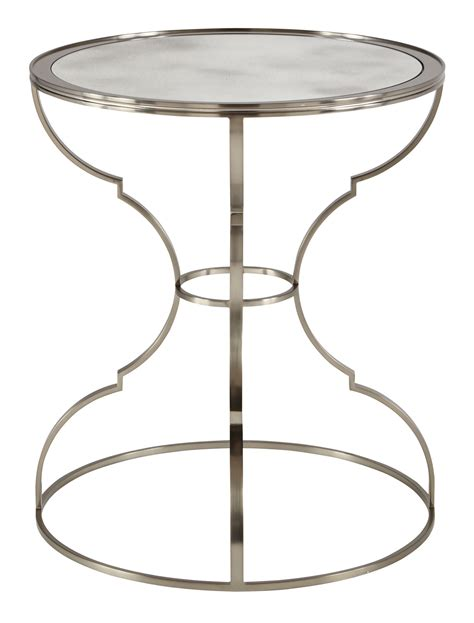 Dining Room Tables Round round metal end table bernhardt