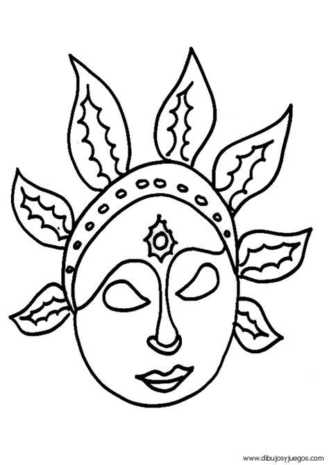imagenes mayas para colorear mascaras carnaval recortables 016 dibujos y juegos para