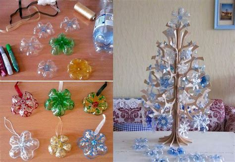 useful craft projects how to diy snowflake ornaments from plastic bottles