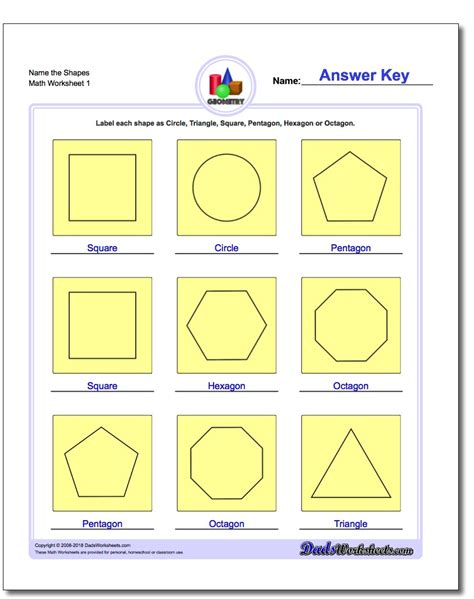 Polygon Shapes Worksheet by Basic Geometric Figures Worksheet Boxfirepress