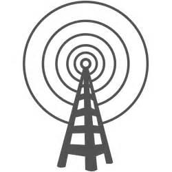 Radio Art Silhouette Radio Tower Logo Clipart Best