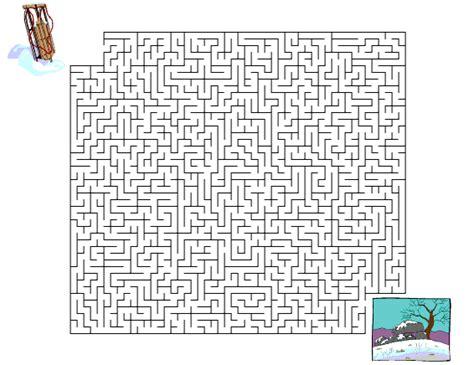 winter maze worksheets winter maze worksheet