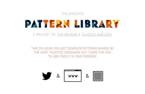 pattern library website the pattern library by the most talented designers web